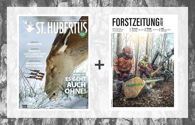 Forstzeitungs-Kombi mit St. Hubertus